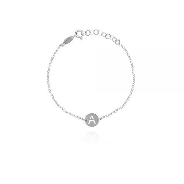 Silver Initial bracelet small