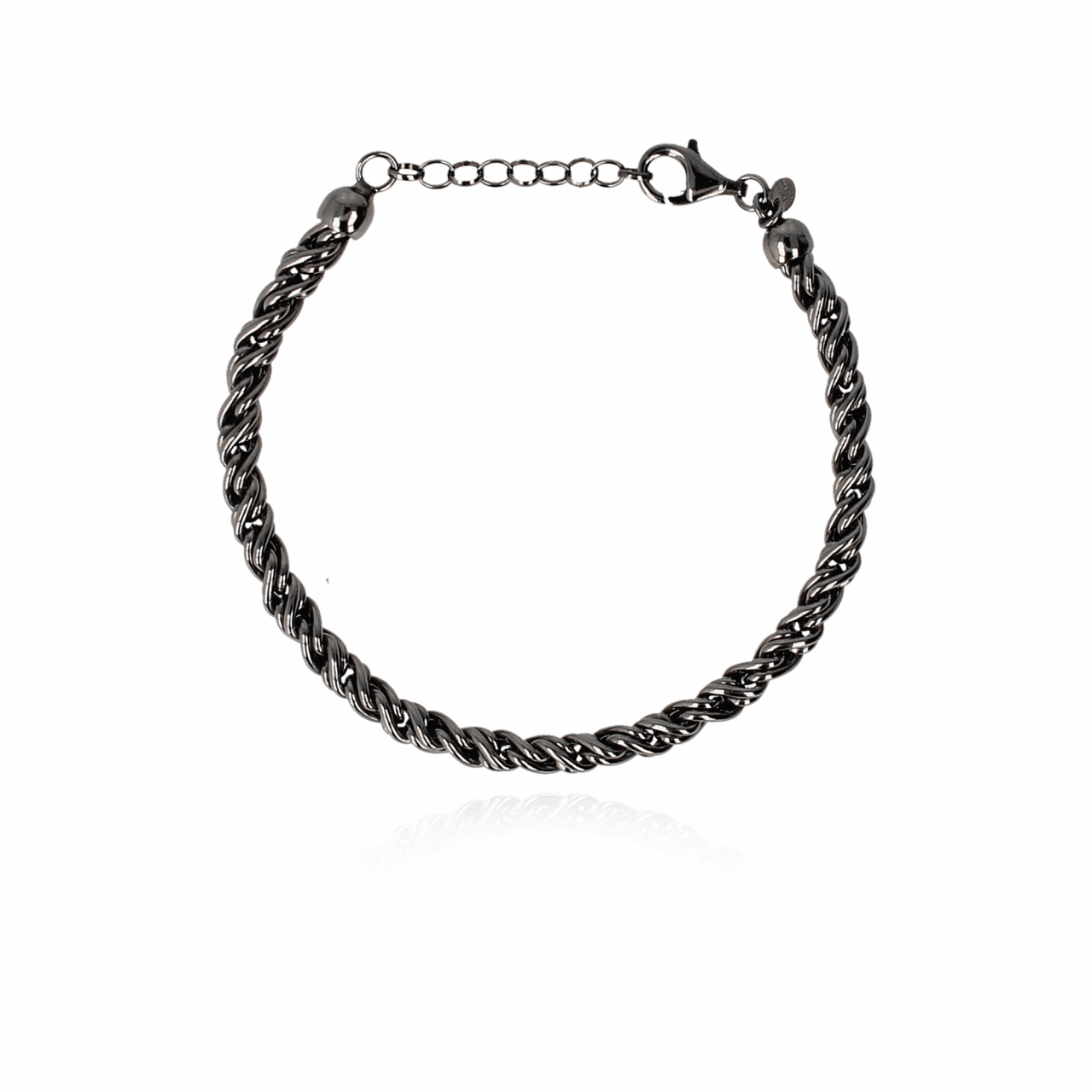 Men Jack Bracelet M Black 19 cm