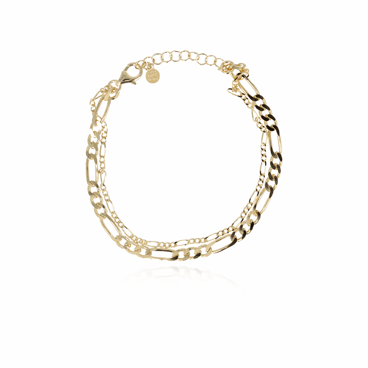 Gouden classic vintage double chain armband
