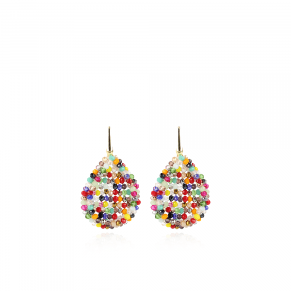 Daisy Glassberry Closed Drop M Dark Multicolor oorbellen