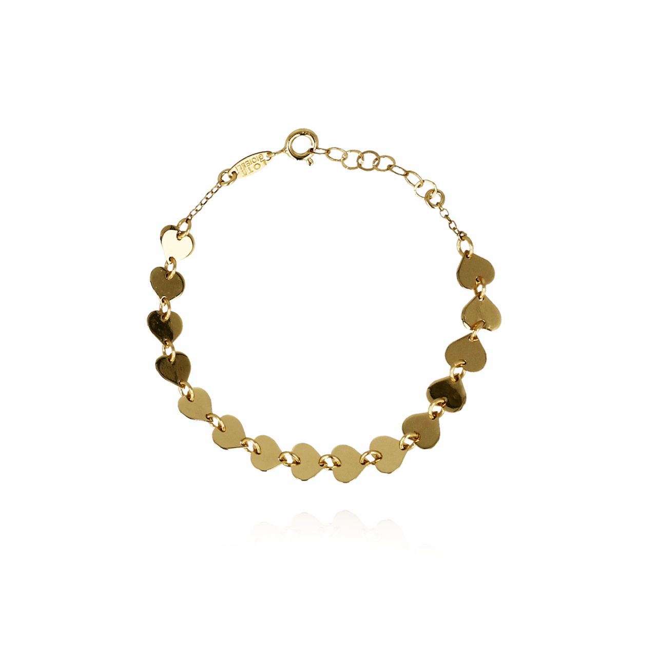 Golden 15 hearts bracelet