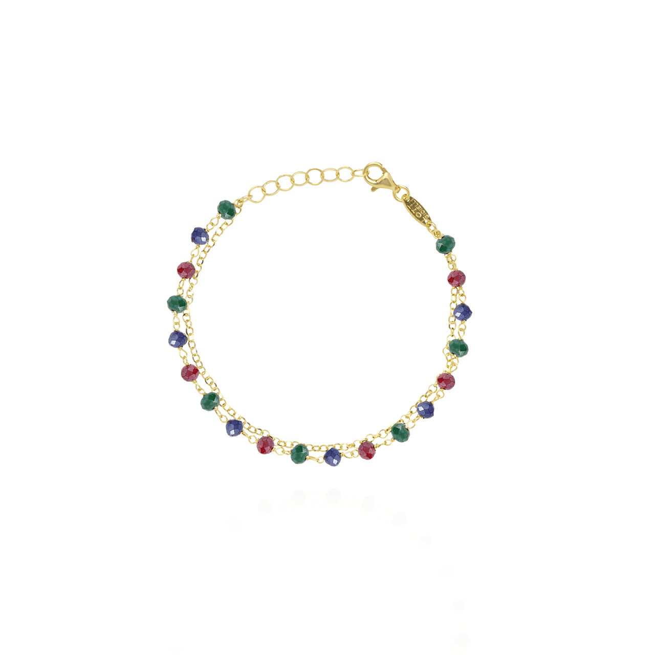 Golden rosary multicolor bracelet