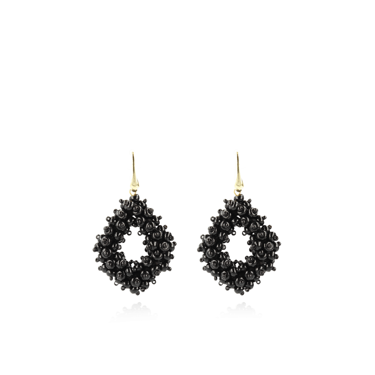 Black Holly double stones glassberry ace M earrings