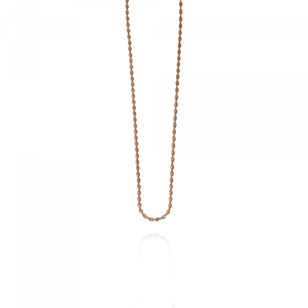 rosé twisted chain necklace