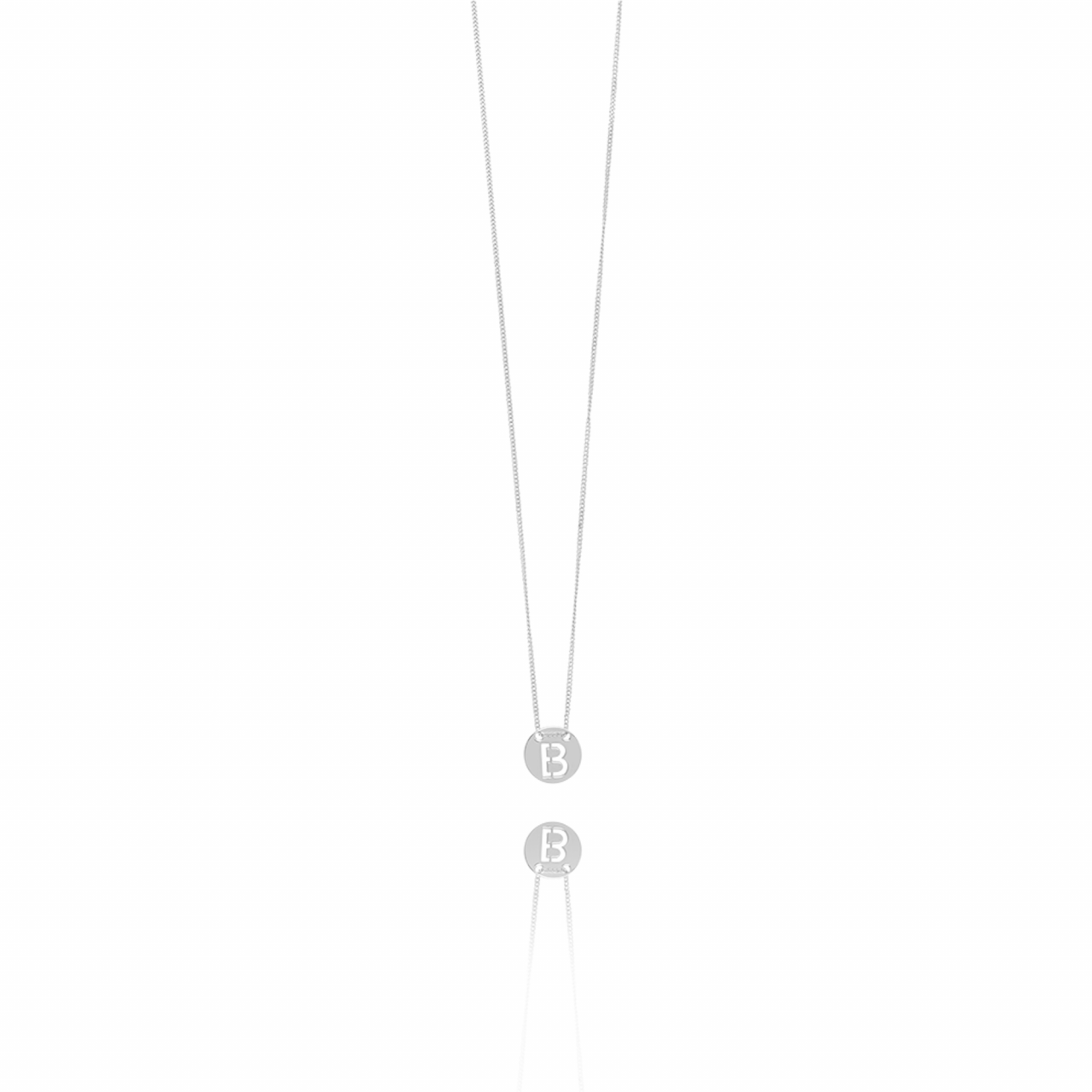 Silver Initial necklace small