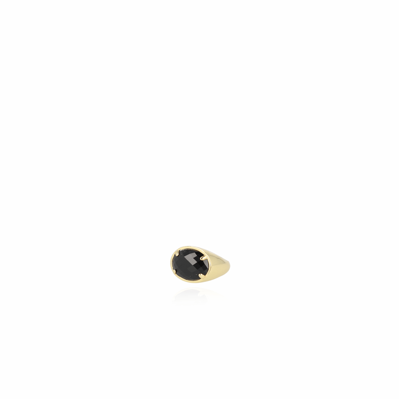 Stone L Ring Gold