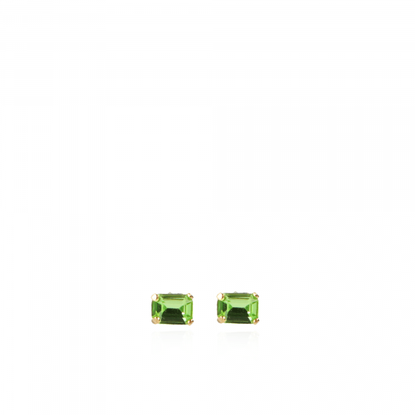 Jill Swarovski Earpin Square Small Green