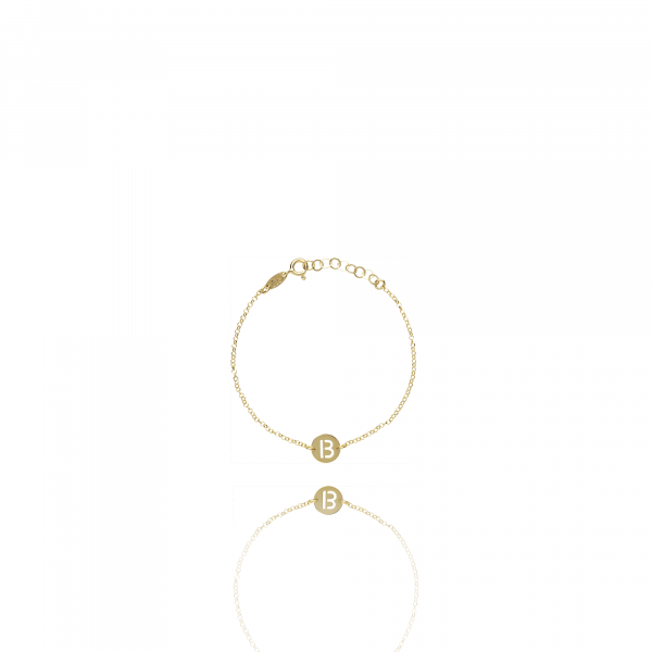 Golden Initial bracelet small