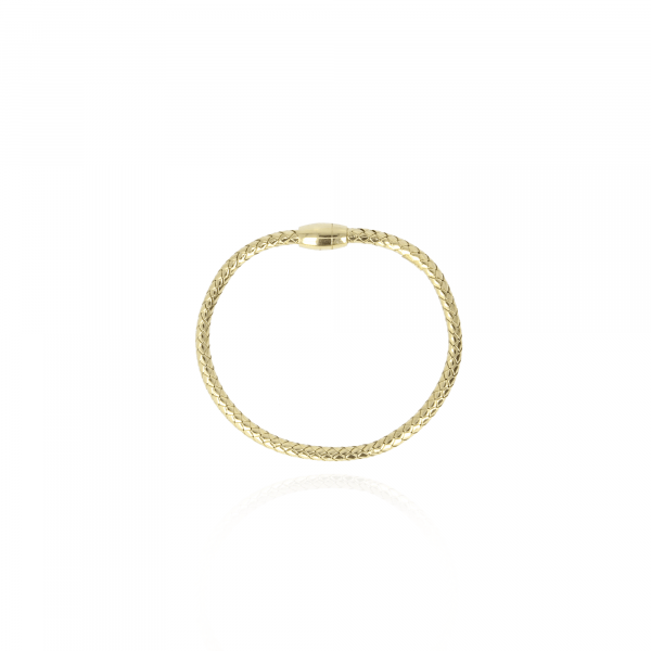 Golden magnetic cobra S bracelet
