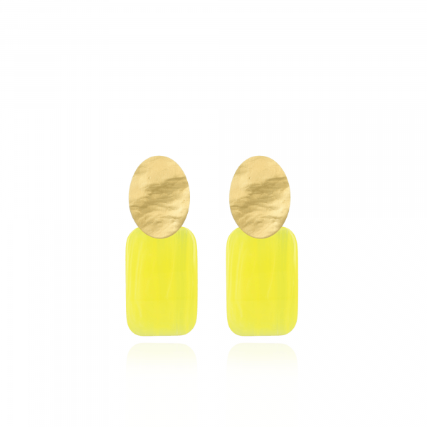 Resin Rectangle M Sparkling Yellow