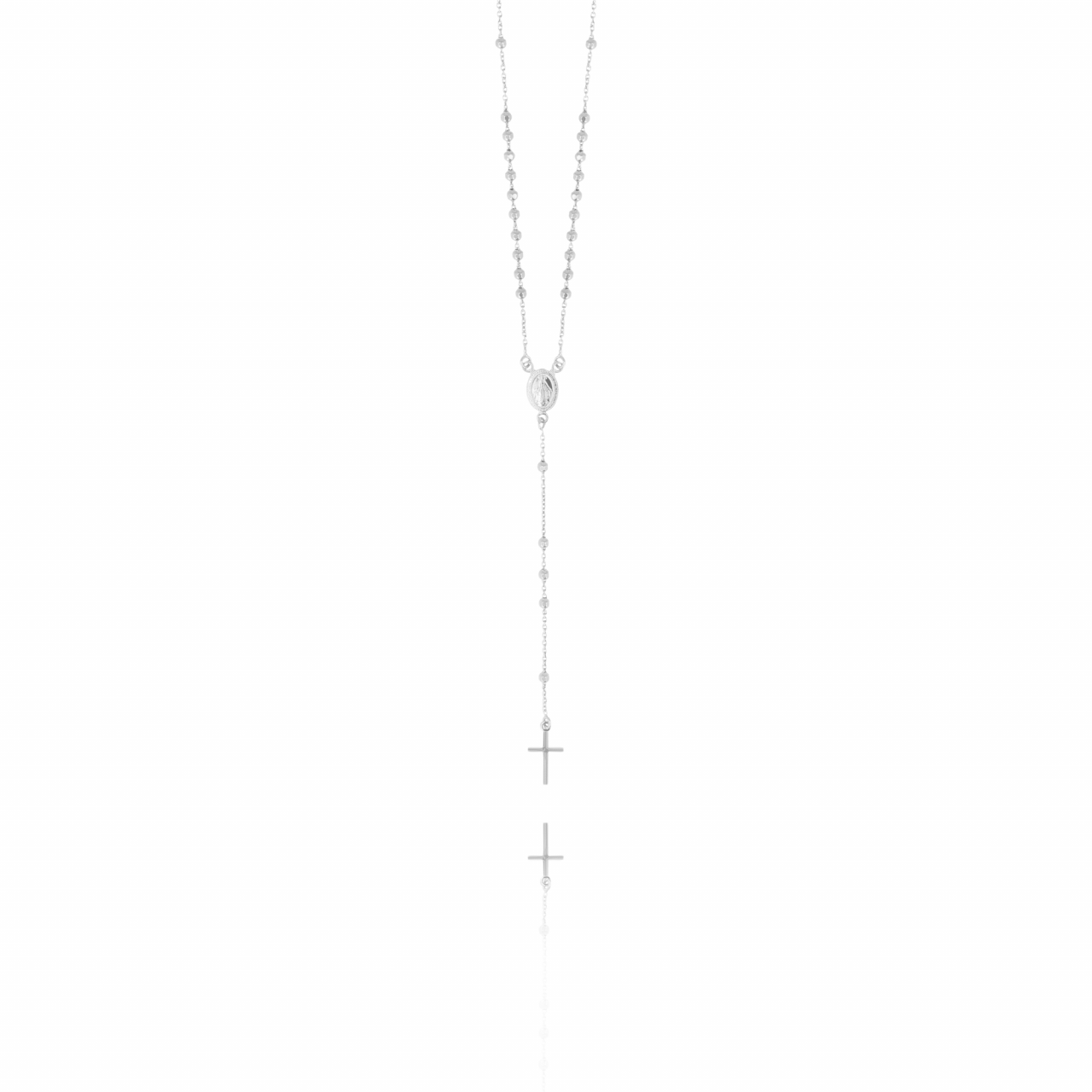 Silver Rosary Cross necklace