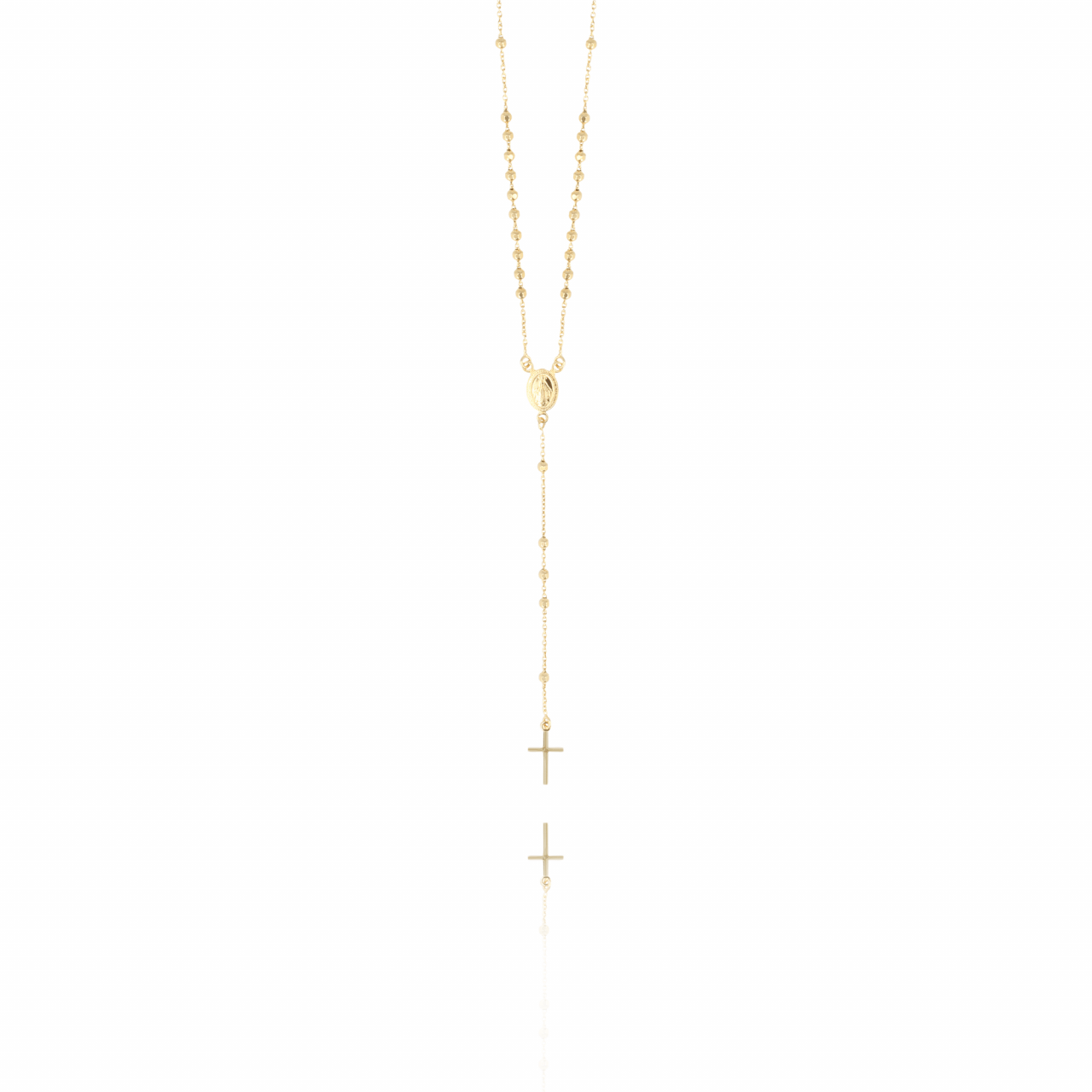 Golden Rosary Cross necklace