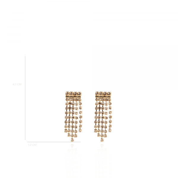 Maria Swarovski Waterfall Earring Golden Shadow
