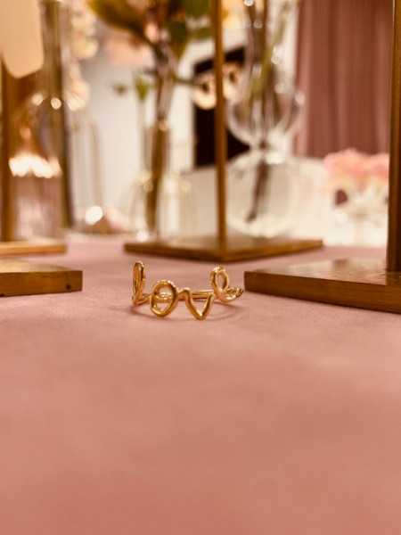 Golden Symbol Love Ring