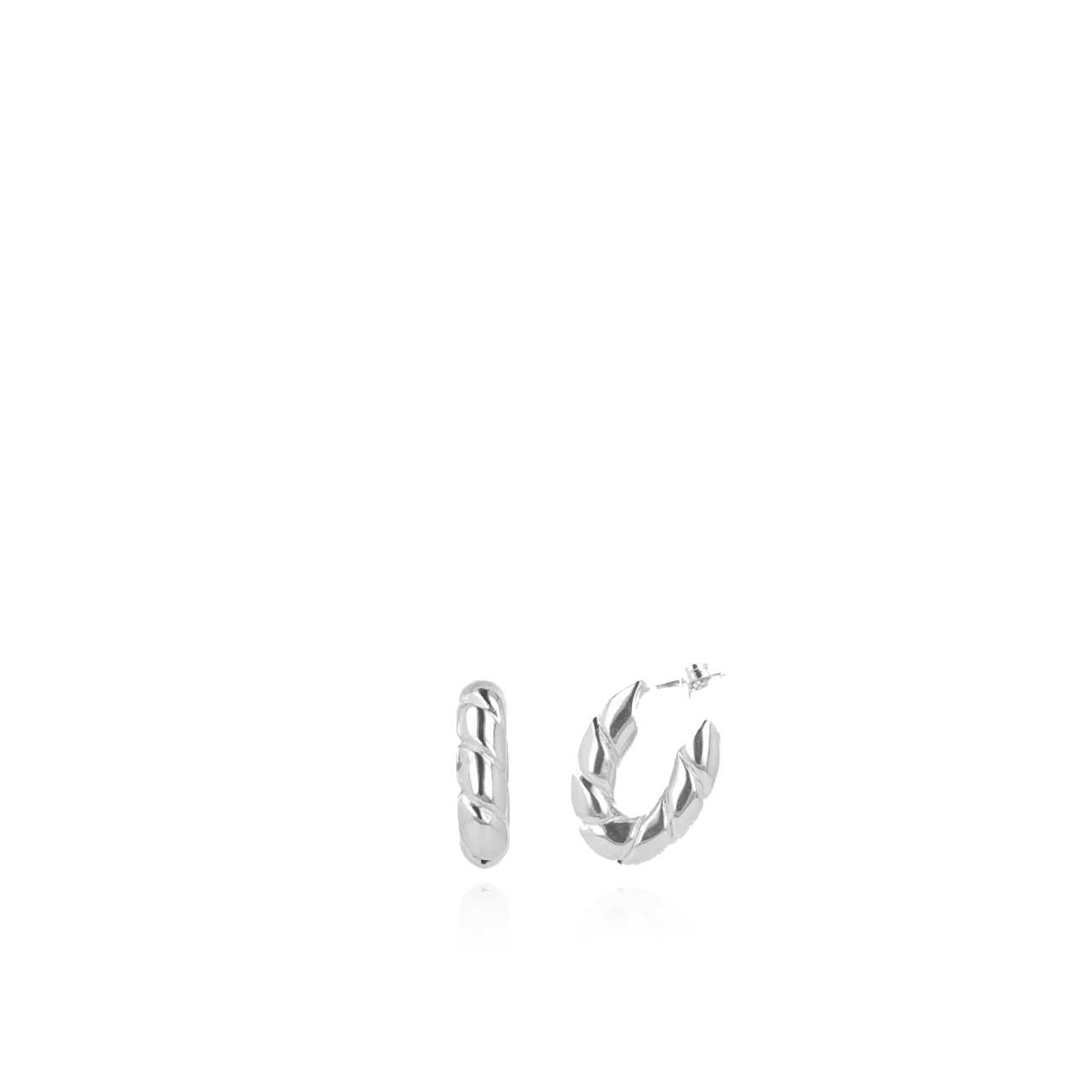 Classic creool oval chained earrings