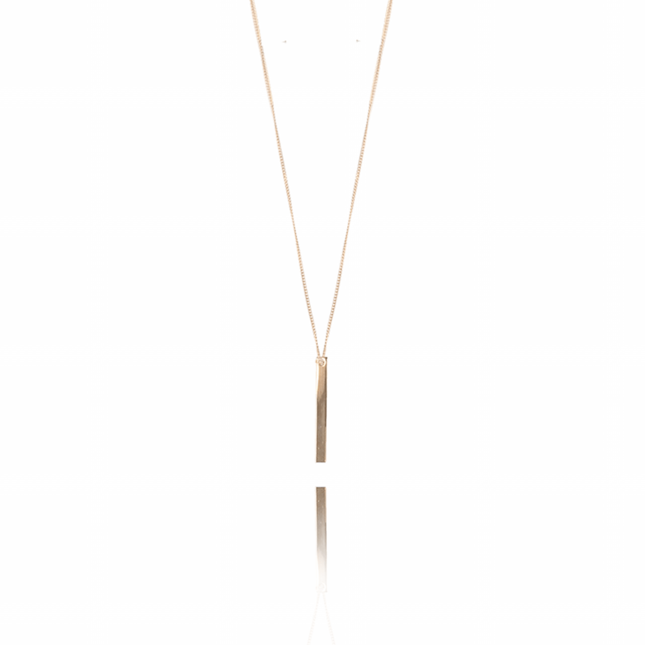 Rosé Vertical Bar S ketting