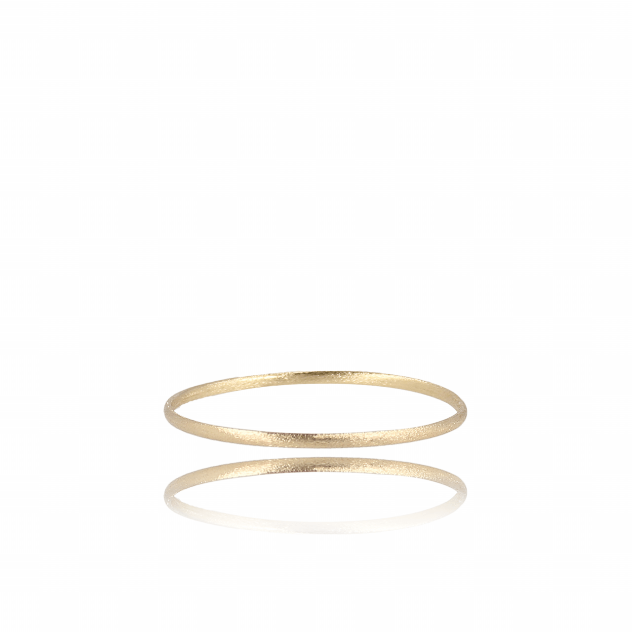 Gouden brushed closed forever XS armband
