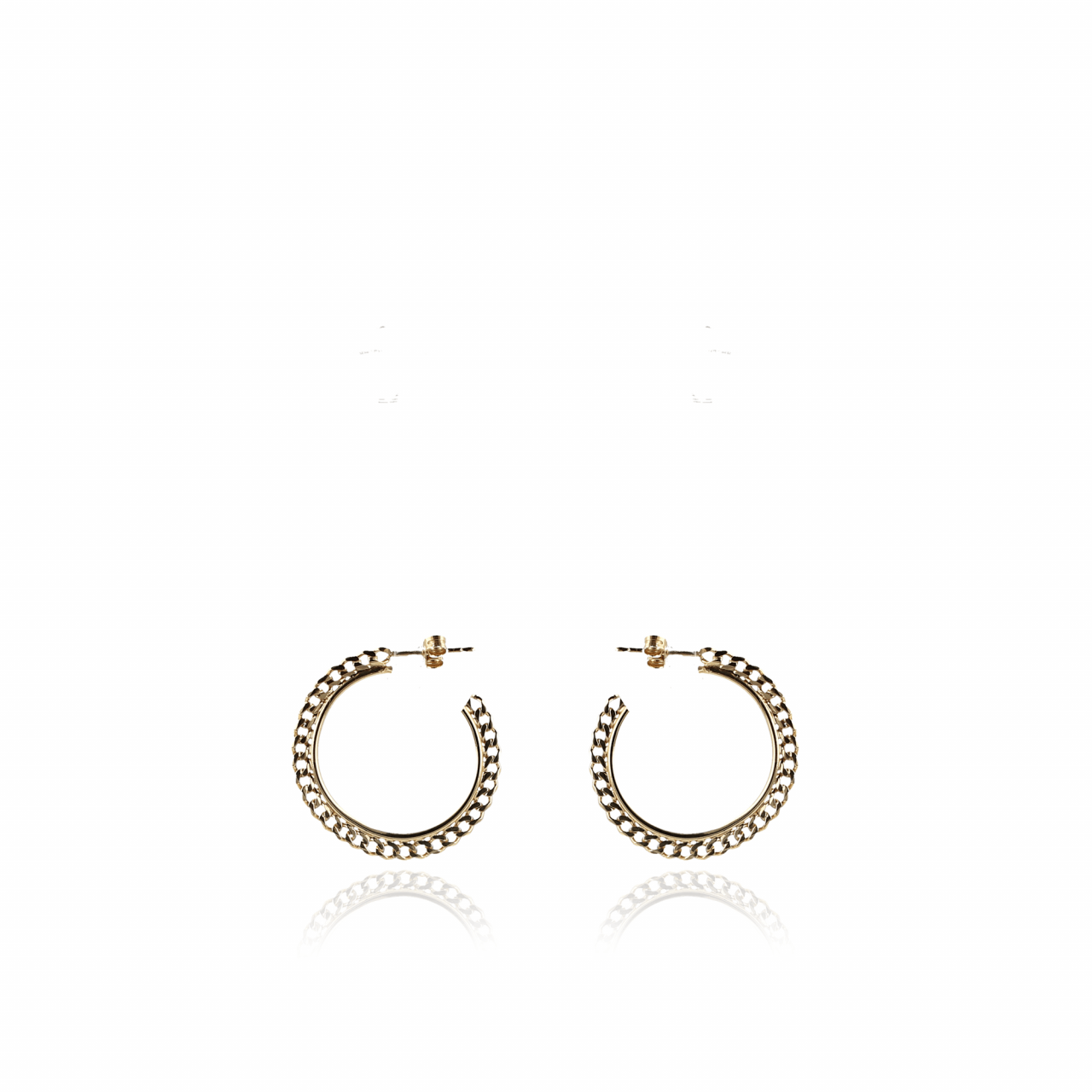 Golden creole chain S earrings