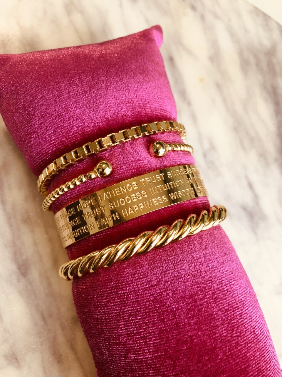 Gouden cannonball bangle