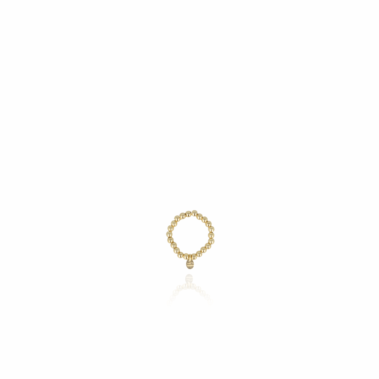 Elastic ball S Ring Gold