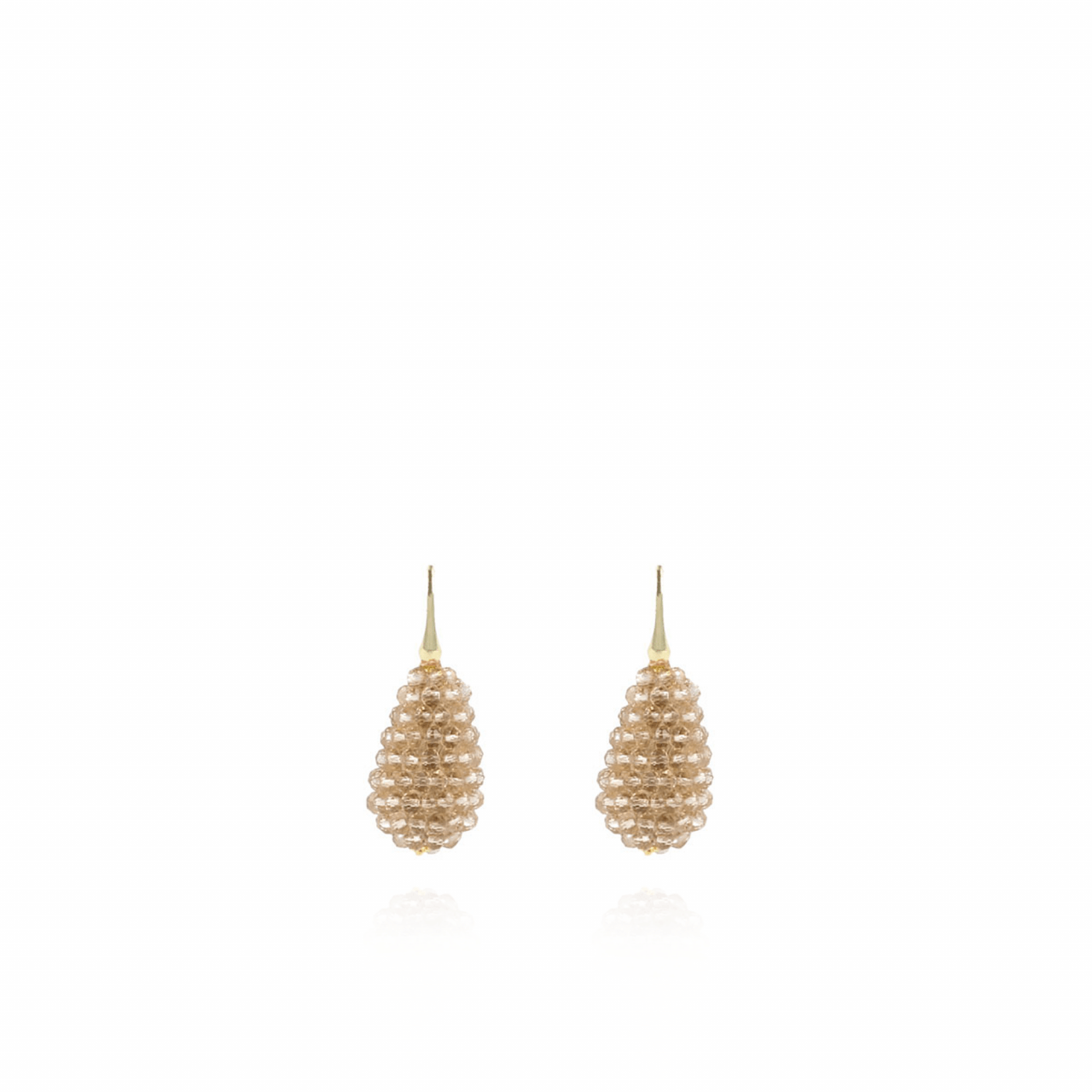Champagne oorbellen Amy glassberry cone S