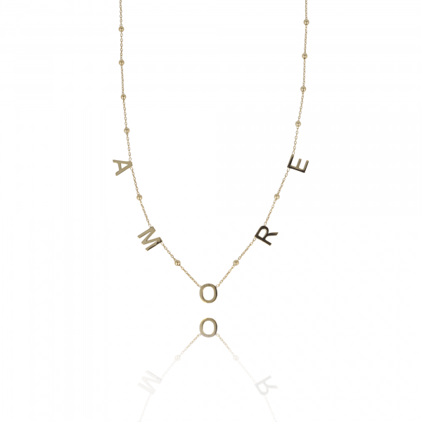 Golden Rosary Amore necklace