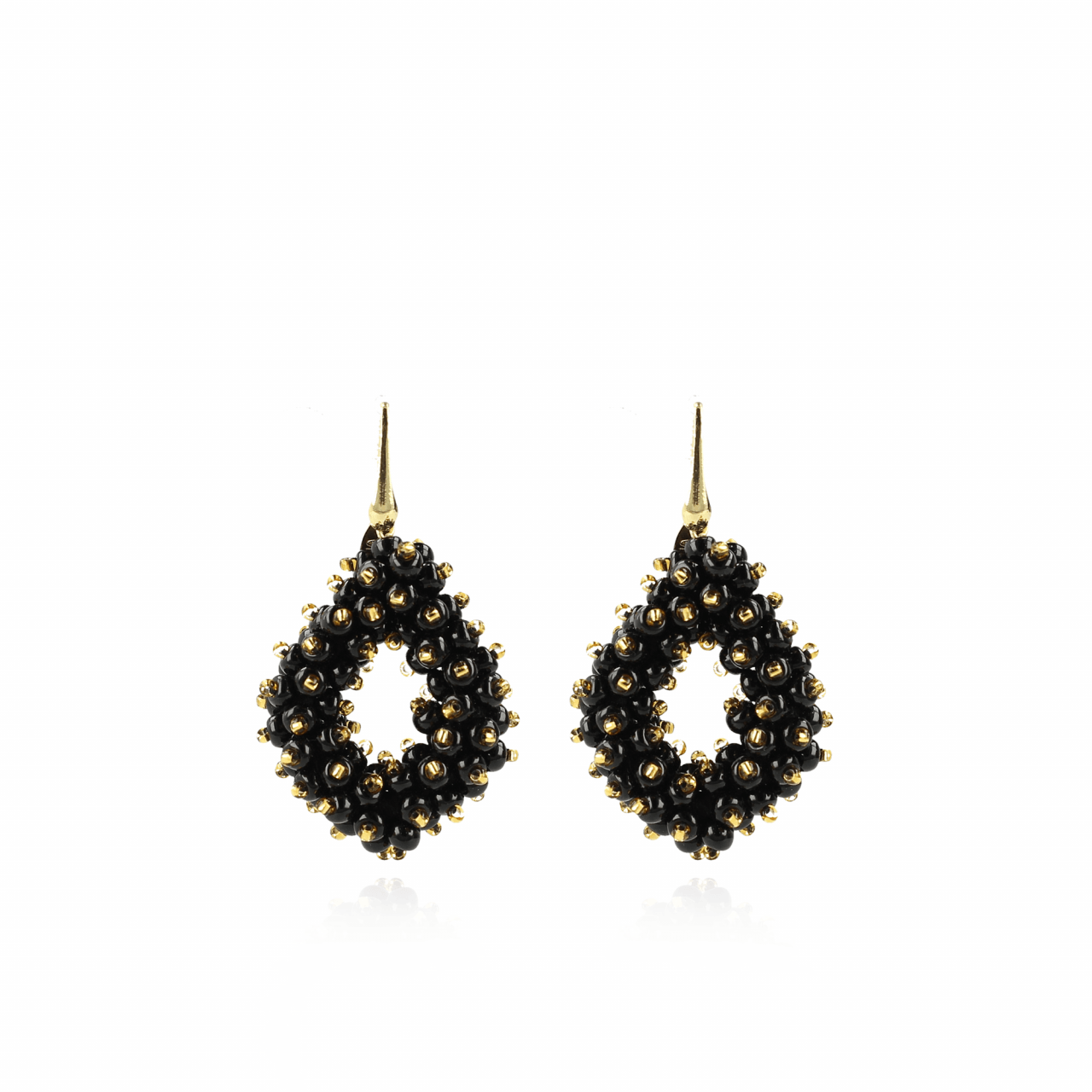 Holly Zwart Gouden Double Stones Glassberry Ace M