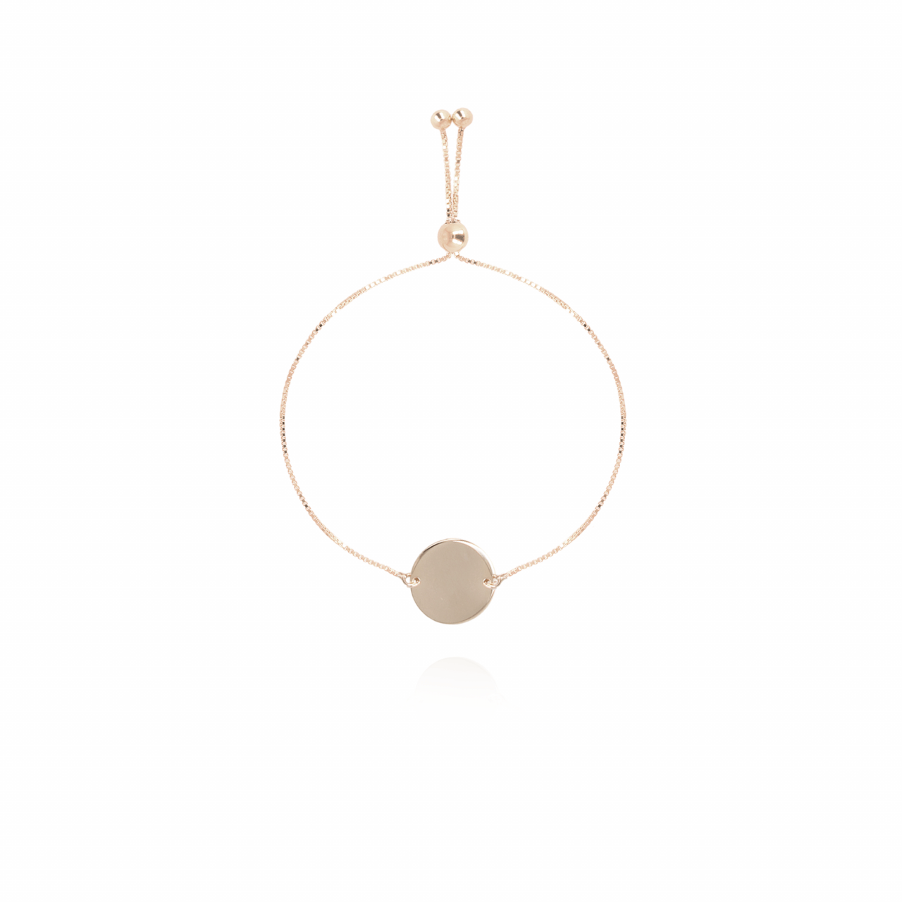 Rosé Golden Clear Coin bracelet