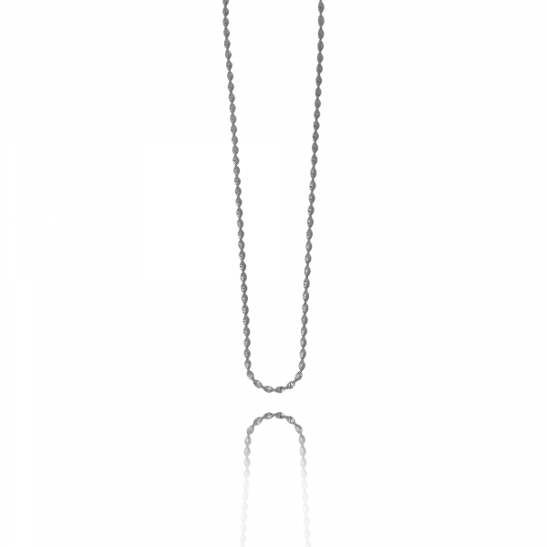 Silver twisted chain necklace