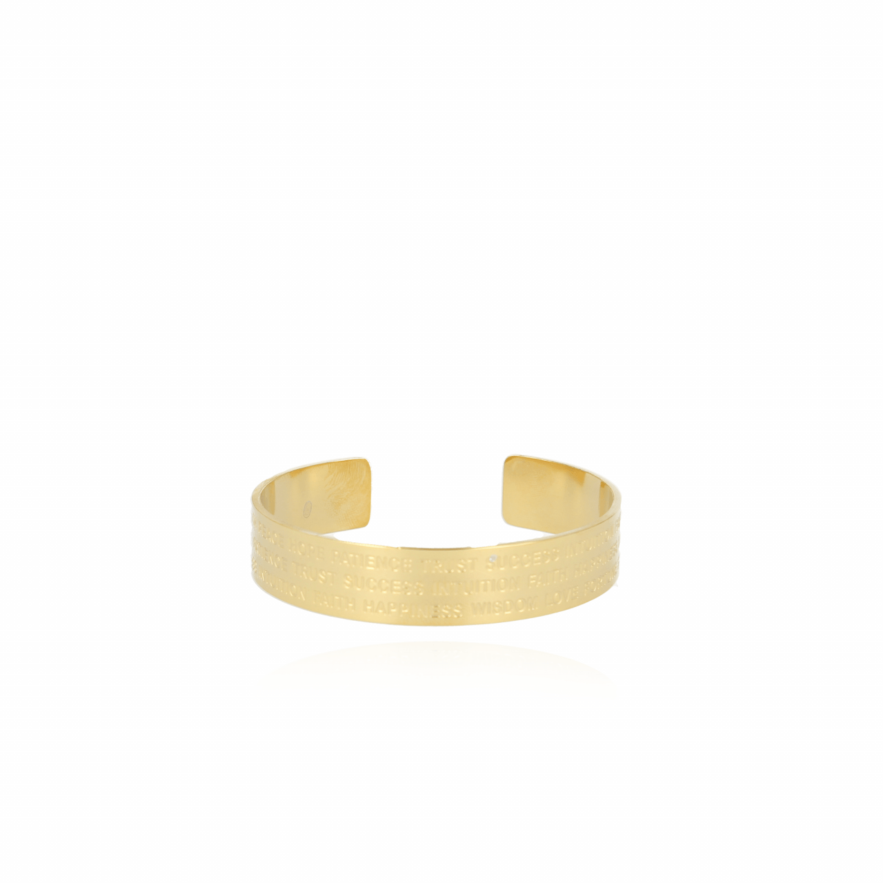 Gouden Quote L bangle