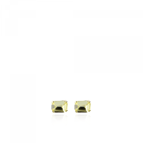 Jill Swarovski Earpin Square Small Yellow