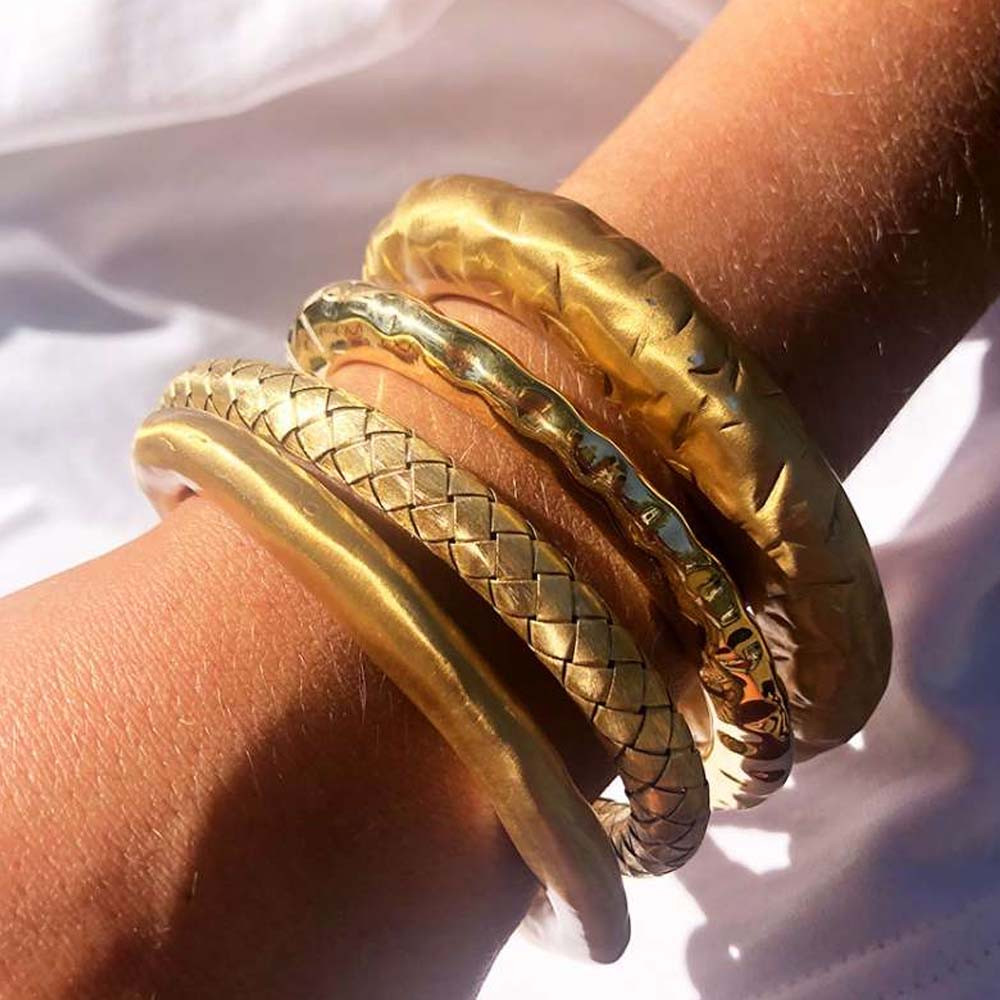 Gouden armband Clay M