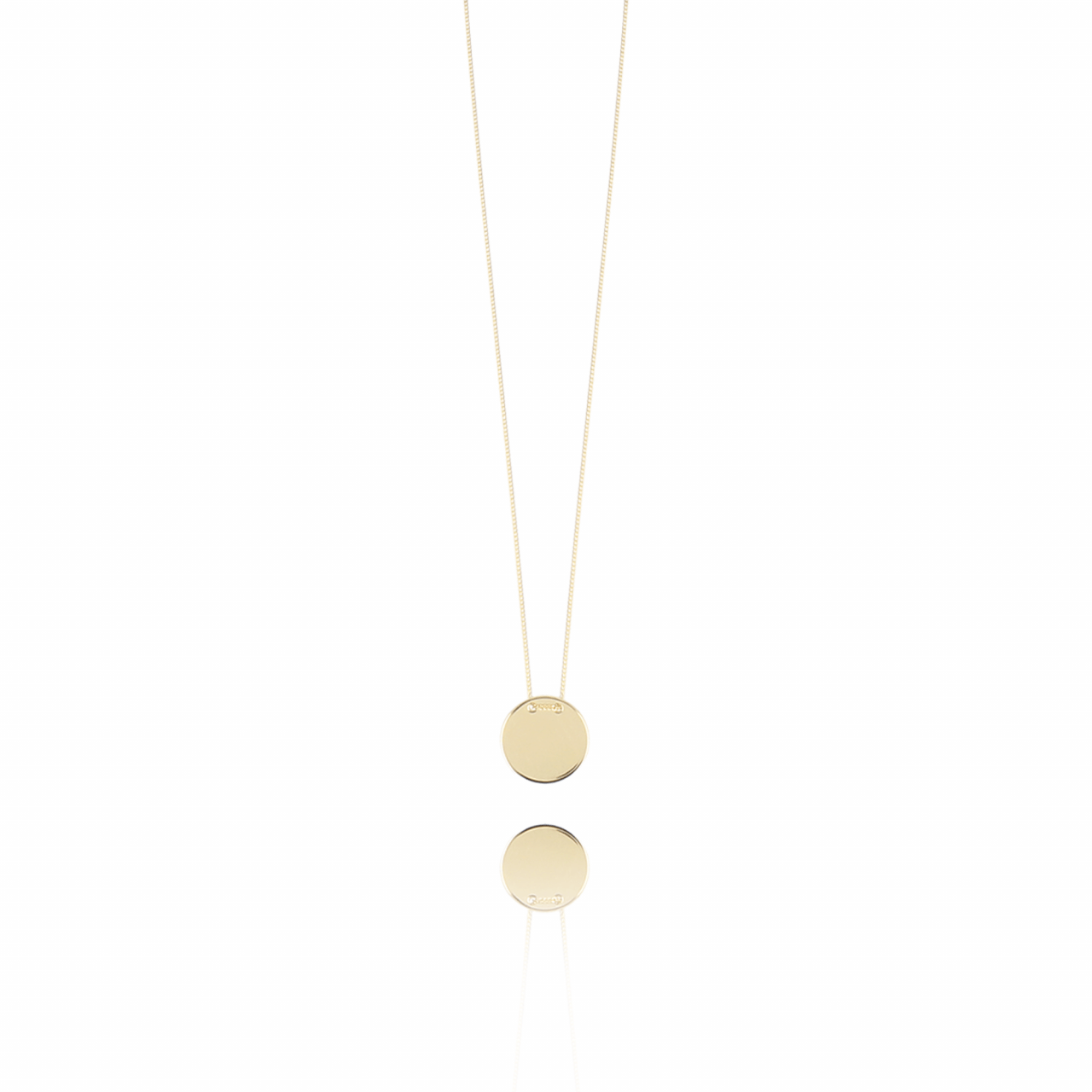 Gouden Clear Coin ketting