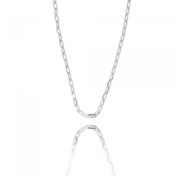 Silver closed forever S chain necklace