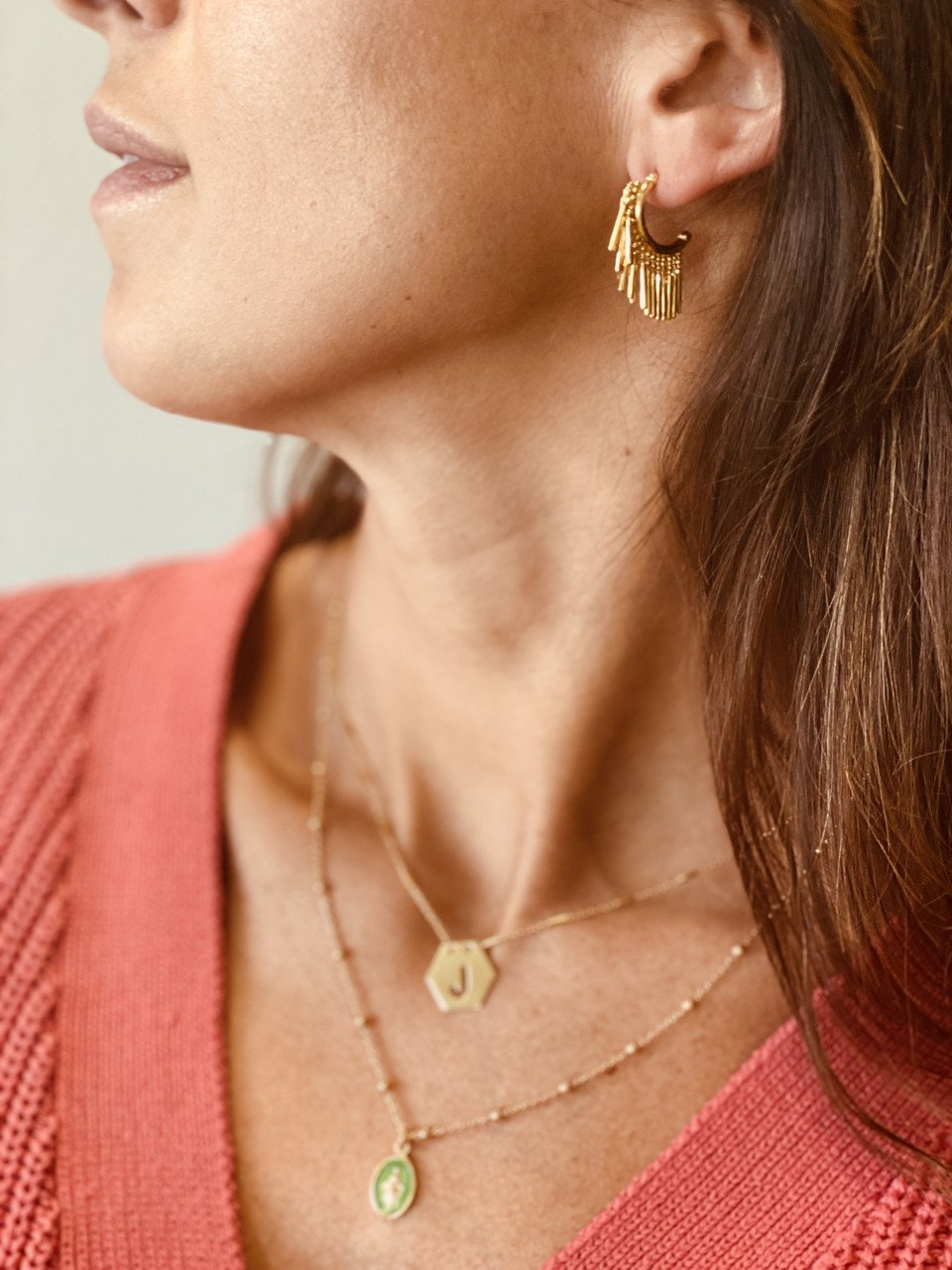 Golden classic creole vibes S earrings