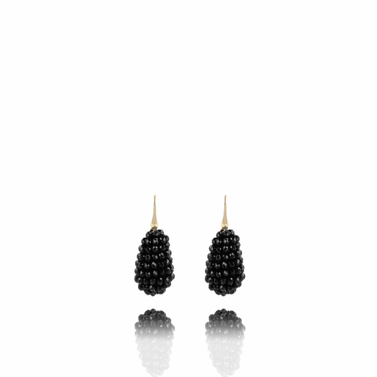 Glassberry Cone S Black Earring