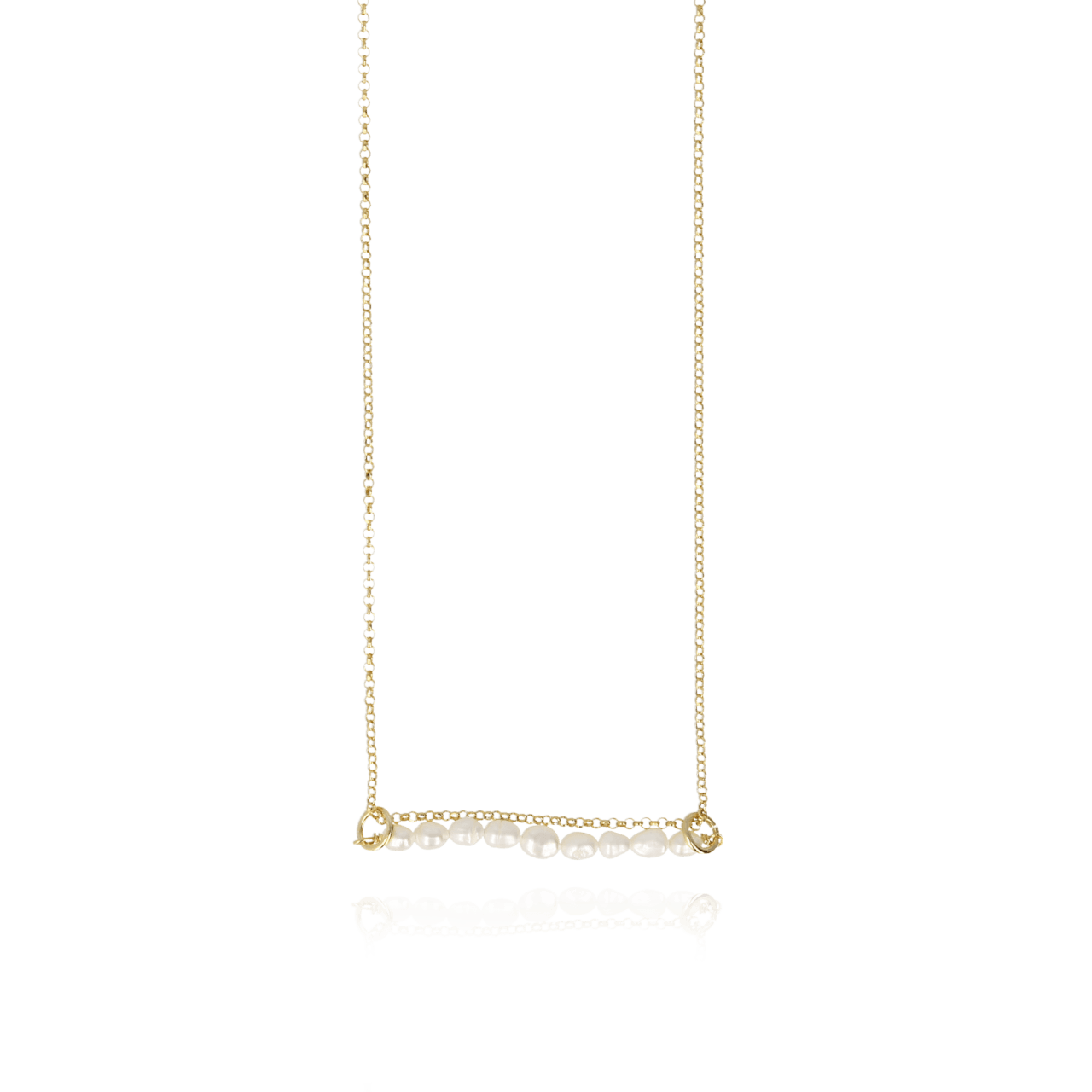 Parel Bar Ovoid XXS Ketting