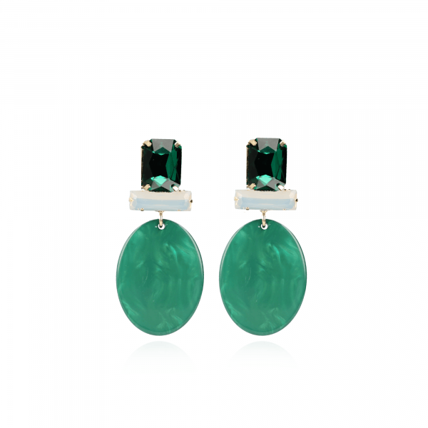 Isabelle Resin Closed Oval S Moss Green