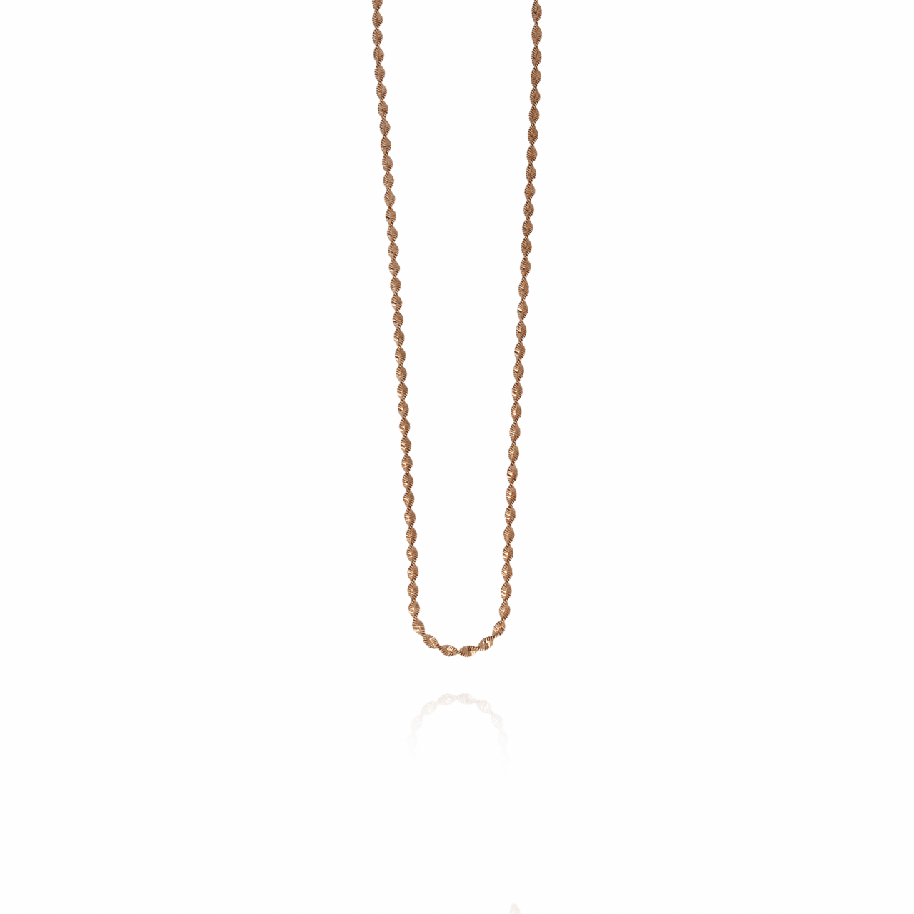Rosé twisted chain ketting