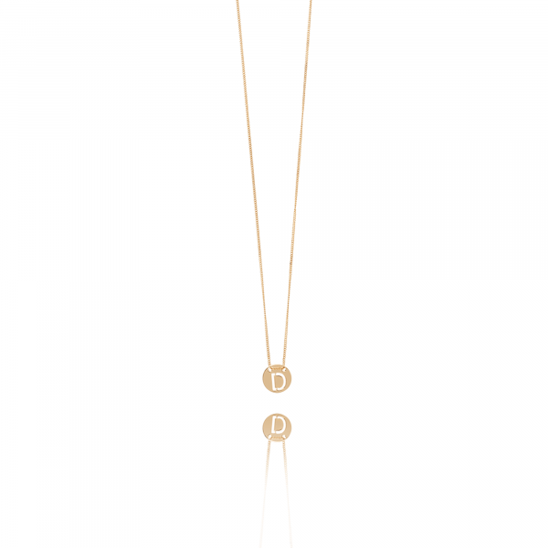Rosé Golden Initial necklace small