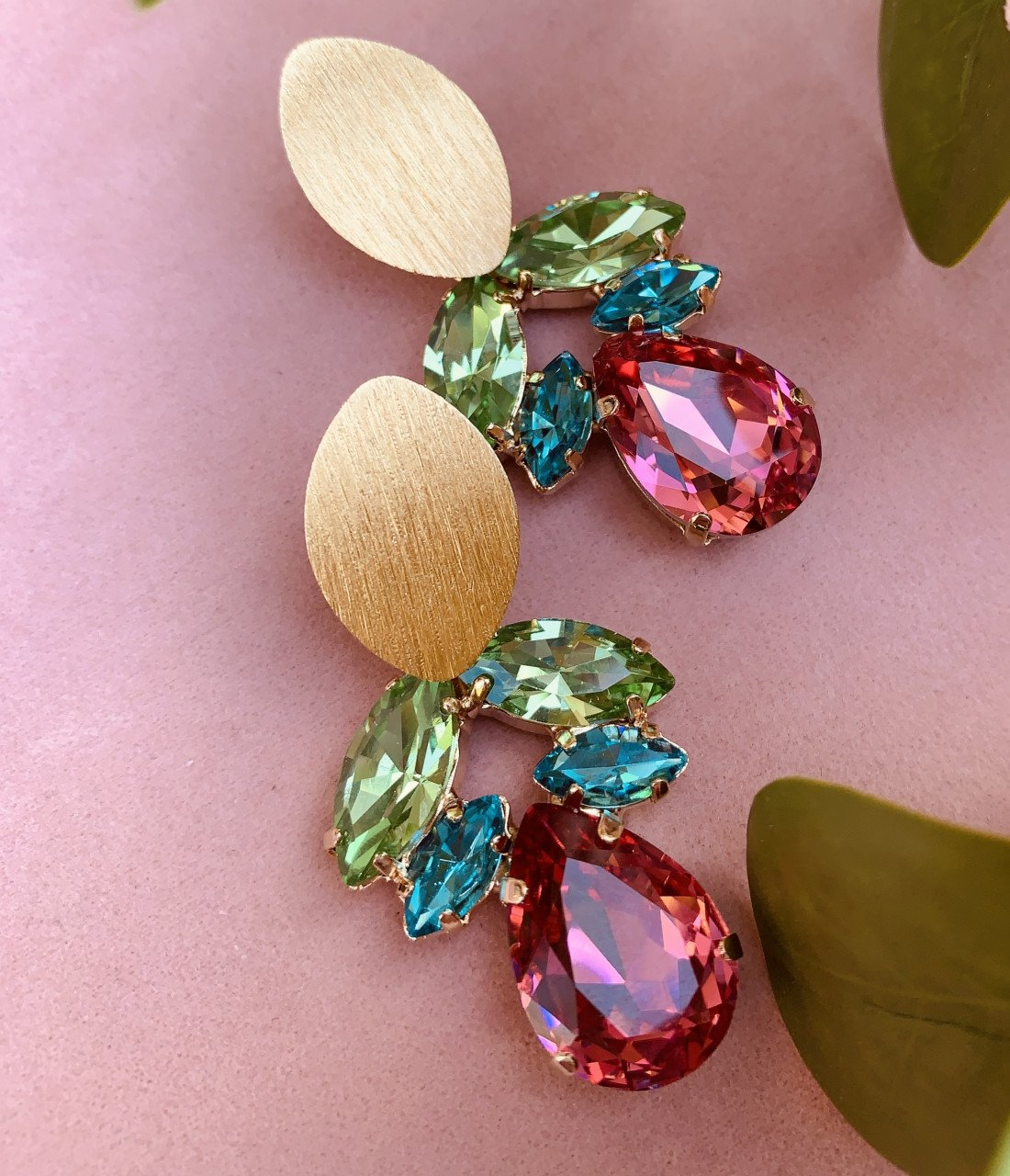 Joni swarovski ornament rainbow earrings