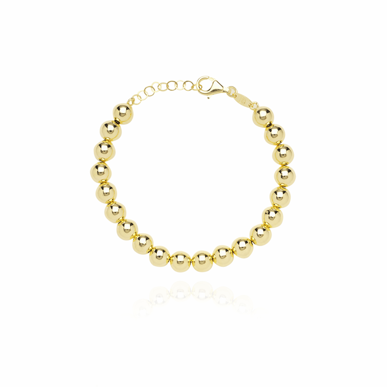 Gouden Cannonball L armband