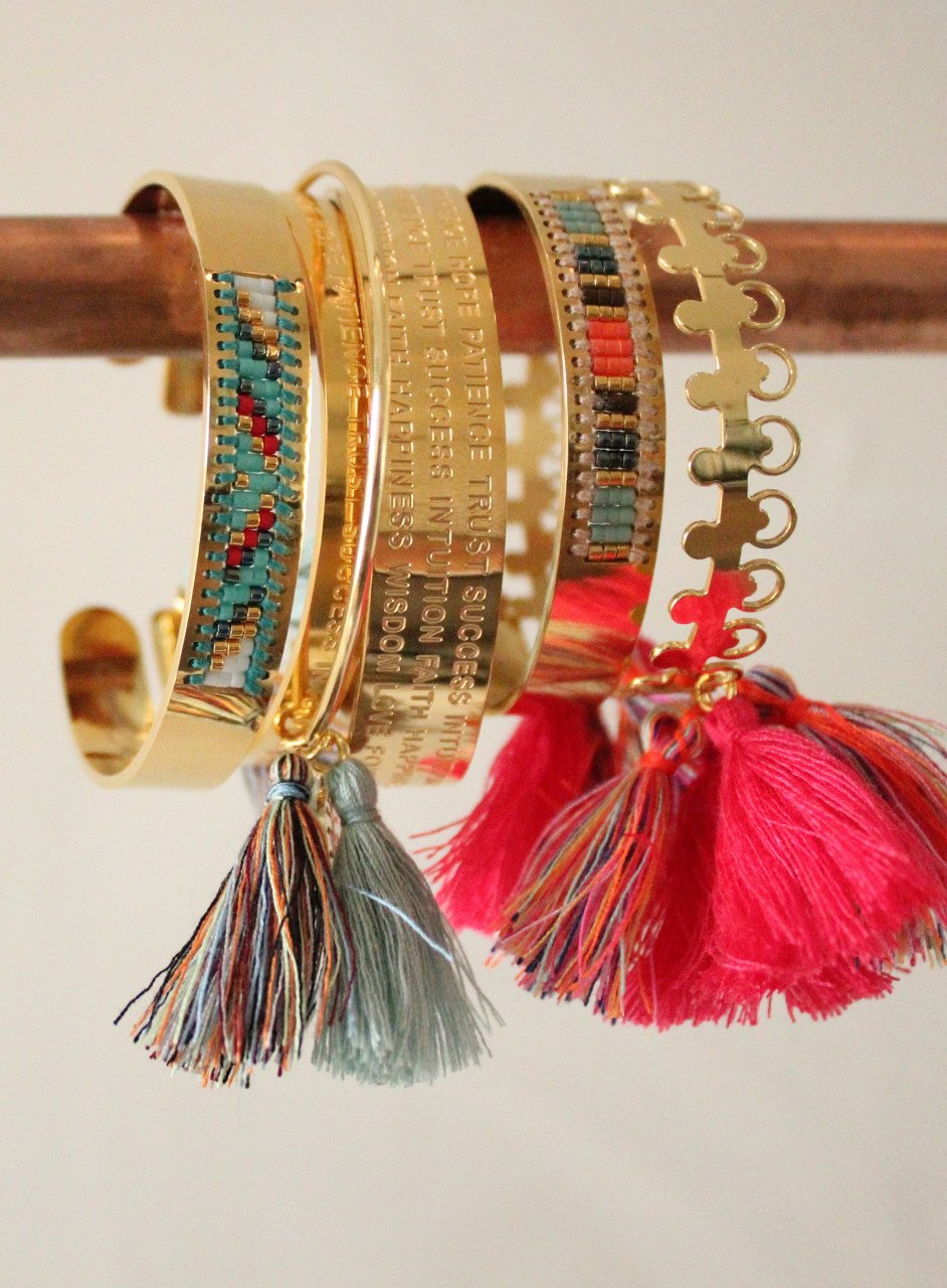 Multicolor gouden Fiji M bangle
