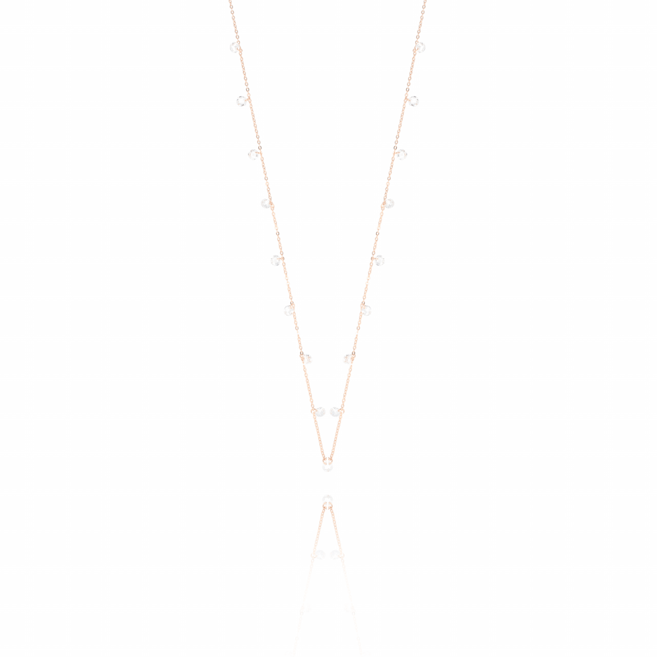 Rosé Crystal Stones ketting