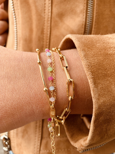 Gouden armband Rosary Multicolor