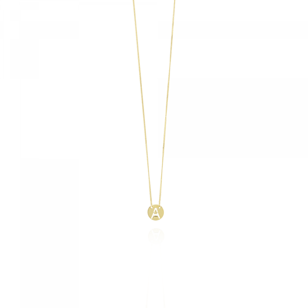 Golden Initial necklace small