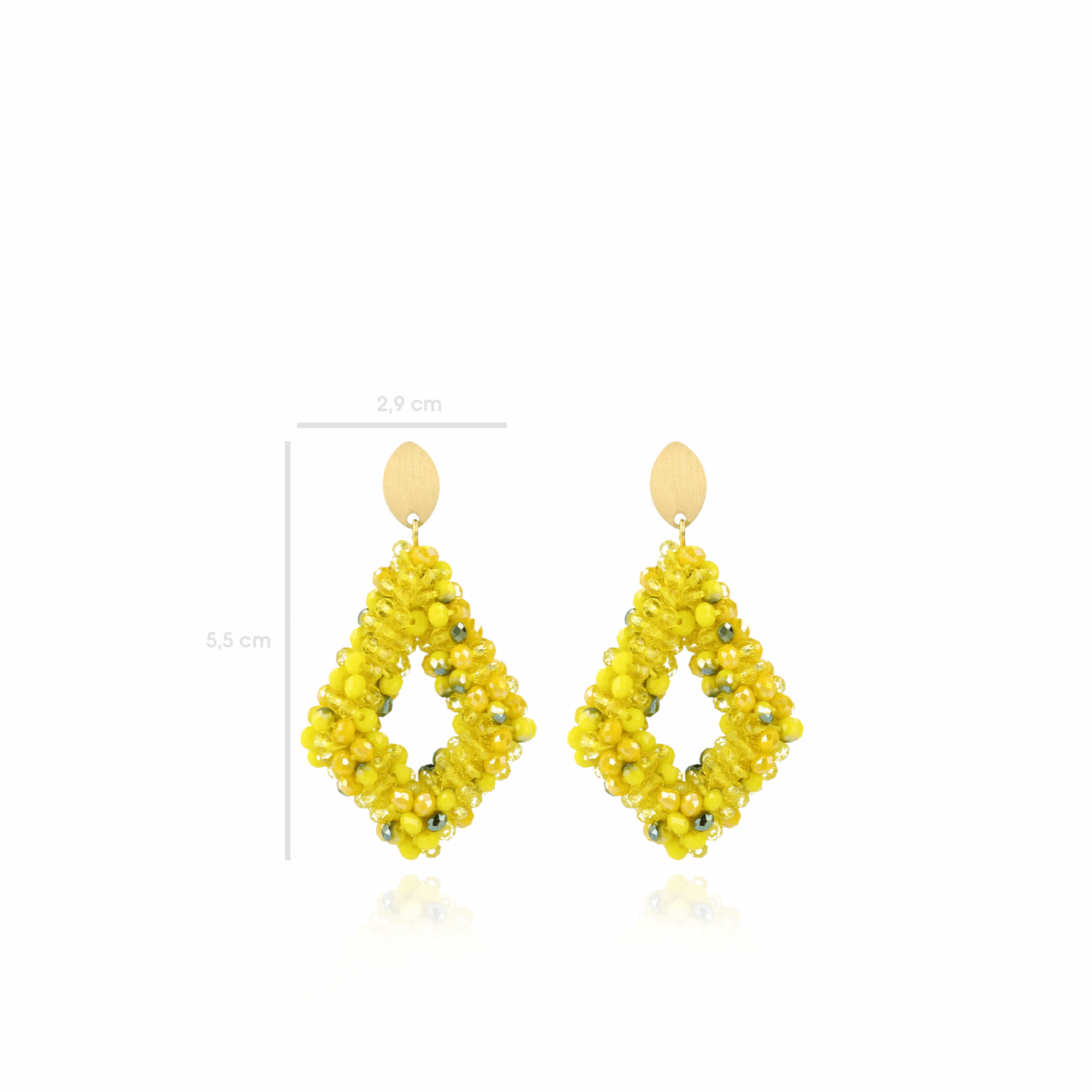 Yellow Ace M earring
