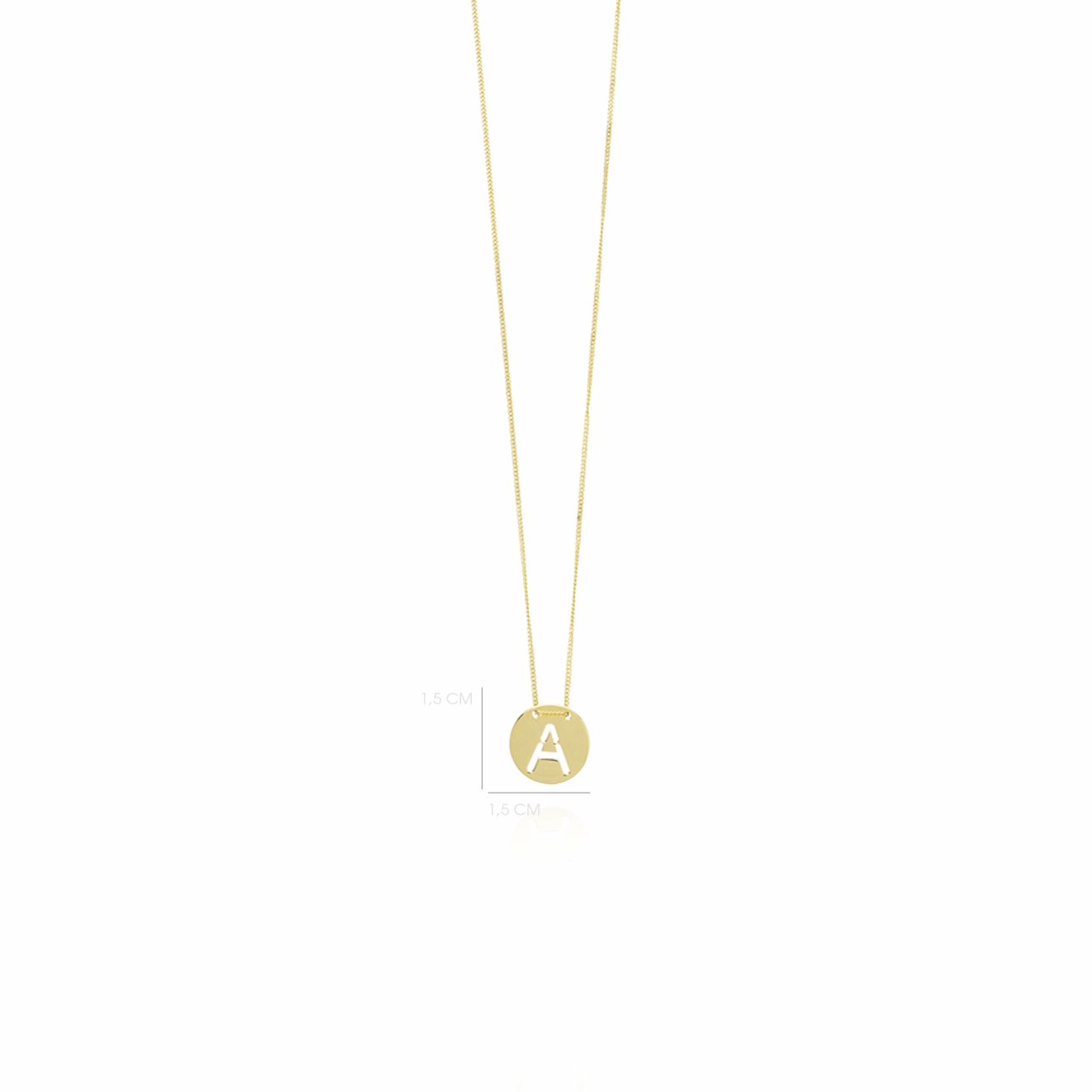 Golden Initial necklace large