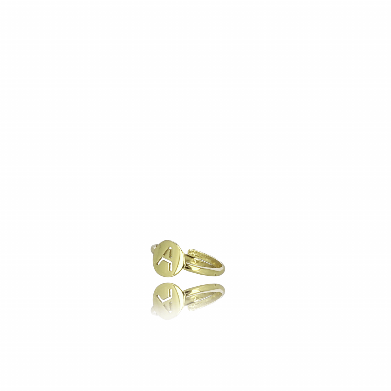 Gouden Initial small ring