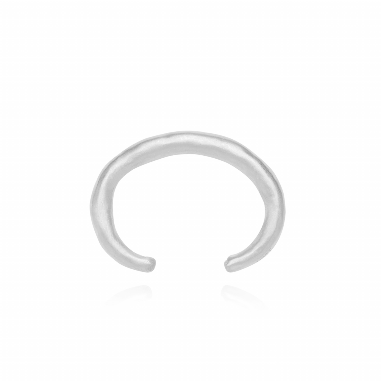 Zilveren Clay M bangle